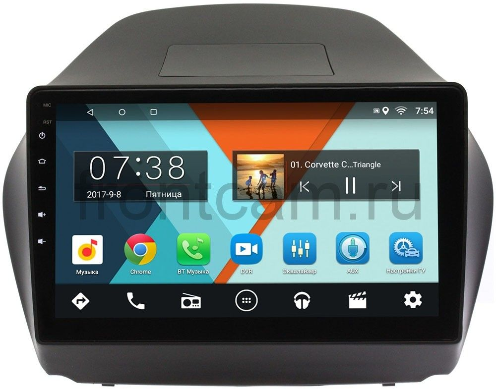Штатная магнитола Wide Media MT1043MF-1/16 для Hyundai ix35 2010-2015 Android 6.0.1 (4 ядра) (+ Камера заднего вида в подарок!)