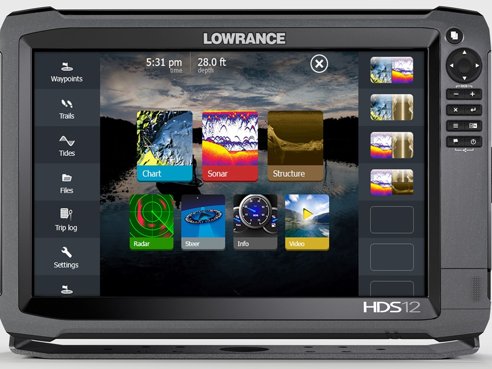 Lowrance HDS-12 Gen3 ROW with StructureScan + HST-WSBL (000-11801-002 - 12) lowrance hds 16 carbon