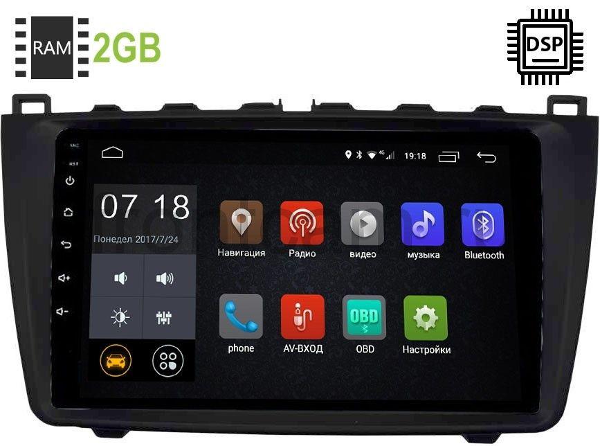 Штатная магнитола Mazda 6 (GH) 2007-2012 LeTrun 2843-2986 Android 9.0 9 дюймов (DSP 2/16GB) 9033 (+ Камера заднего вида в подарок!)