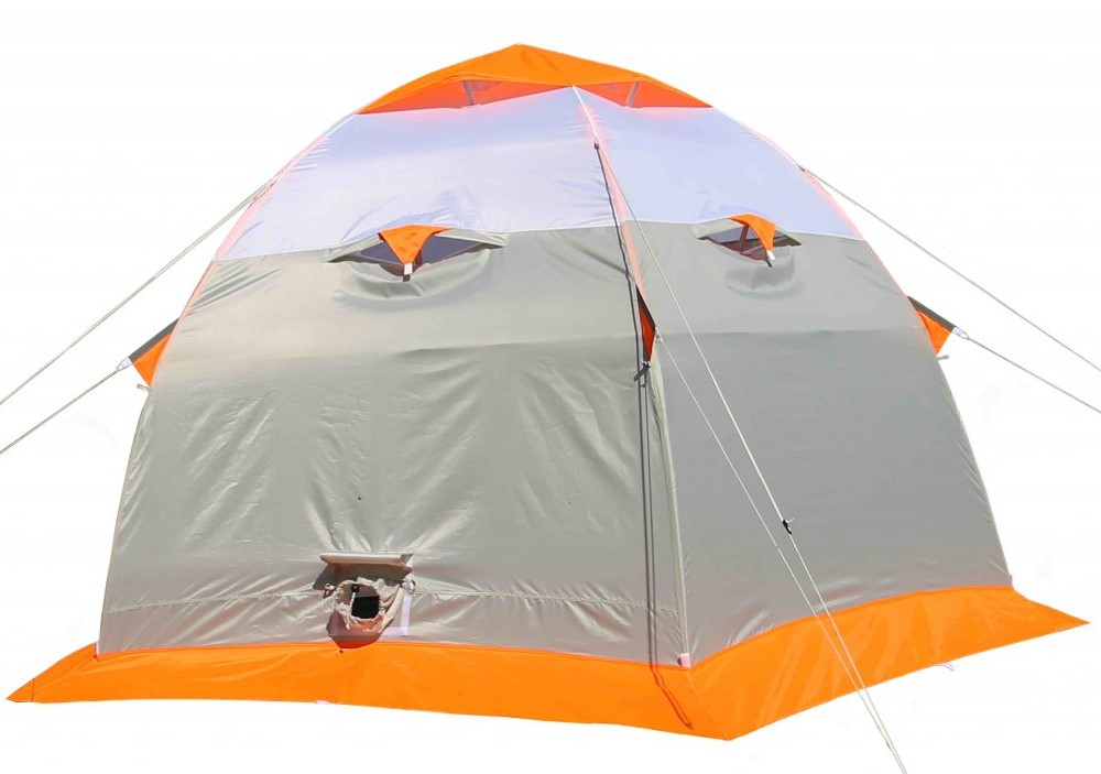 Зимняя палатка Лотос 3С (оранжевый) (+ Дарим комплект ввертышей для палаки.)