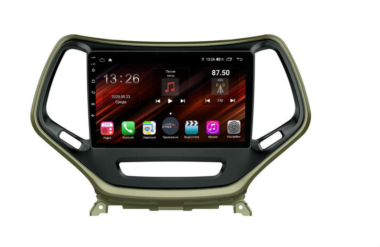 Штатная магнитола FarCar s400 Super HD для Jeep Cherokee на Android (XH608R) (+ Камера заднего вида в подарок!)