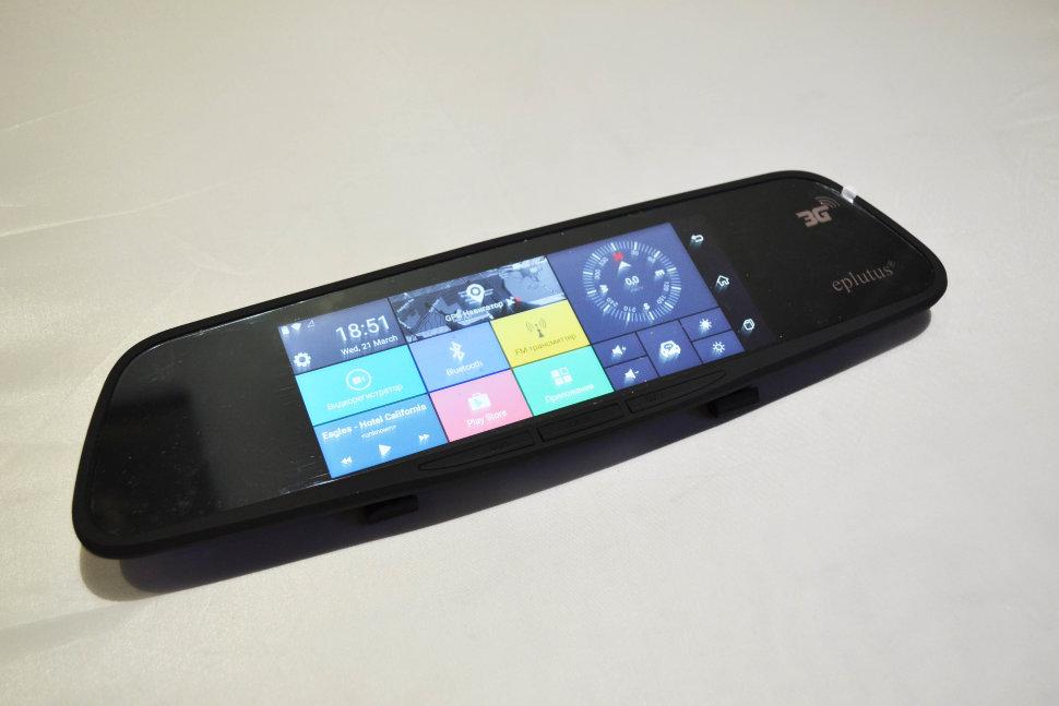 Видеорегистратор с 2-мя камерами на базе Android с GPS и Wi-Fi Eplutus D30 (+ Разветвитель в подарок!) видеорегистратор eplutus gr 92p с антирадаром и gps разветвитель в подарок