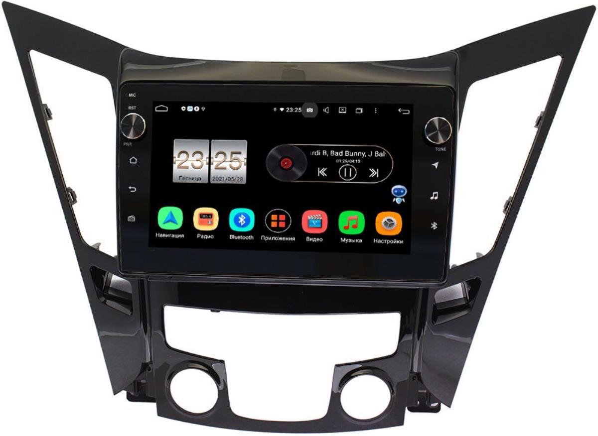 Штатная магнитола Hyundai Sonata VI (YF) 2009-2014 LeTrun BPX609-9114 на Android 10 (4/64, DSP, IPS, с голосовым ассистентом, с крутилками) (+ Камера заднего вида в подарок!)