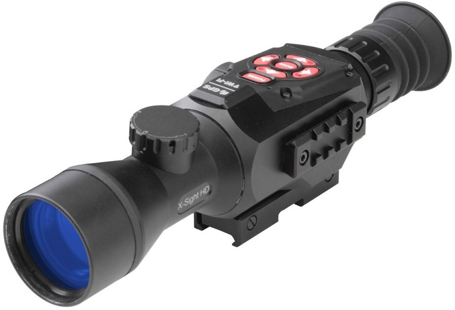 Интеллектуальный цифровой прицел день/ночь ATN X-SIGHT II HD 3-14X red laser gun aiming sight bore sight with mounts pressure switch 1 x cr123a