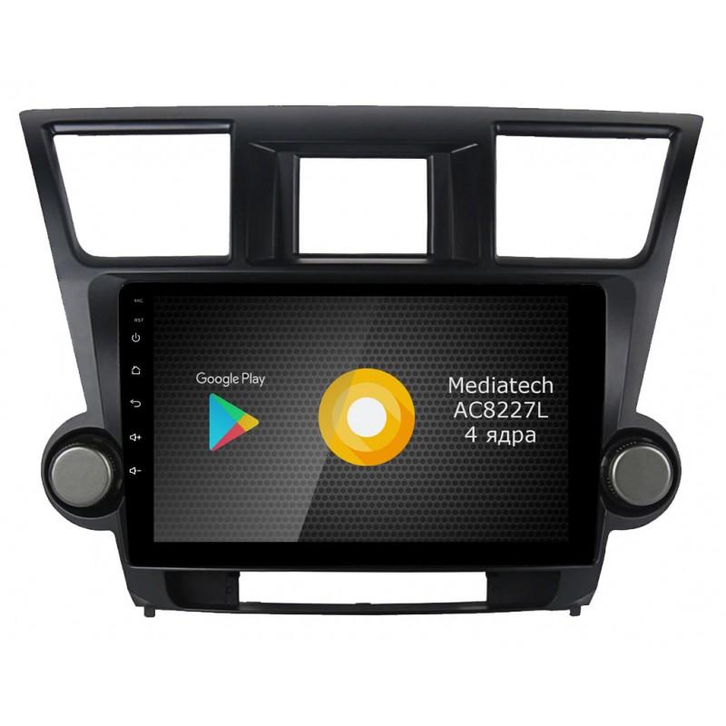 Штатная магнитола Roximo S10 RS-1122 для Toyota Highlander 2 (2007-2013) (Android 9) (+ Камера заднего вида в подарок!) штатное головное устройство daystar ds 7047hb toyota prado 150 2013 android 6 4 ядра