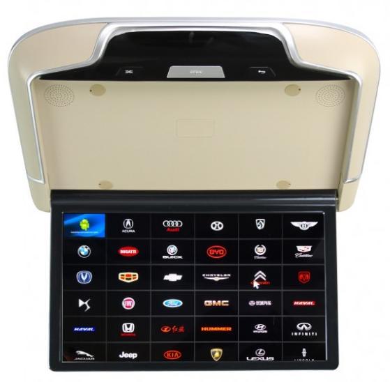 Фото - Автомобильный потолочный монитор Full HD 13,3 ERGO ER13AND на ANDROID (бежевый) (+ Беспроводные наушники в подарок!) шторы римские 120х160 см цвет бежевый