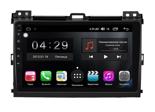 Штатная магнитола FarCar + для TOYOTA Land Cruiser Prado 120 2002-2009 на Android 8.0.1 (A456R)
