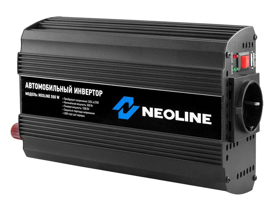 Автомобильный инвертор Neoline 500W автомобильный инвертор напряжения neoline 300w 300вт
