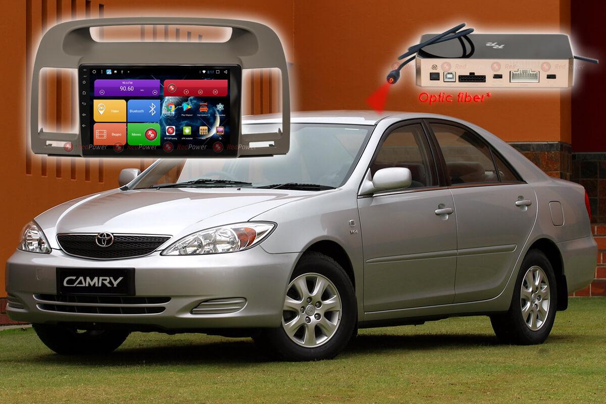 Магнитола для Toyota Camry XV30 RedPower K 51164 R IPS DSP ANDROID 8+ (+ Камера заднего вида в подарок!)