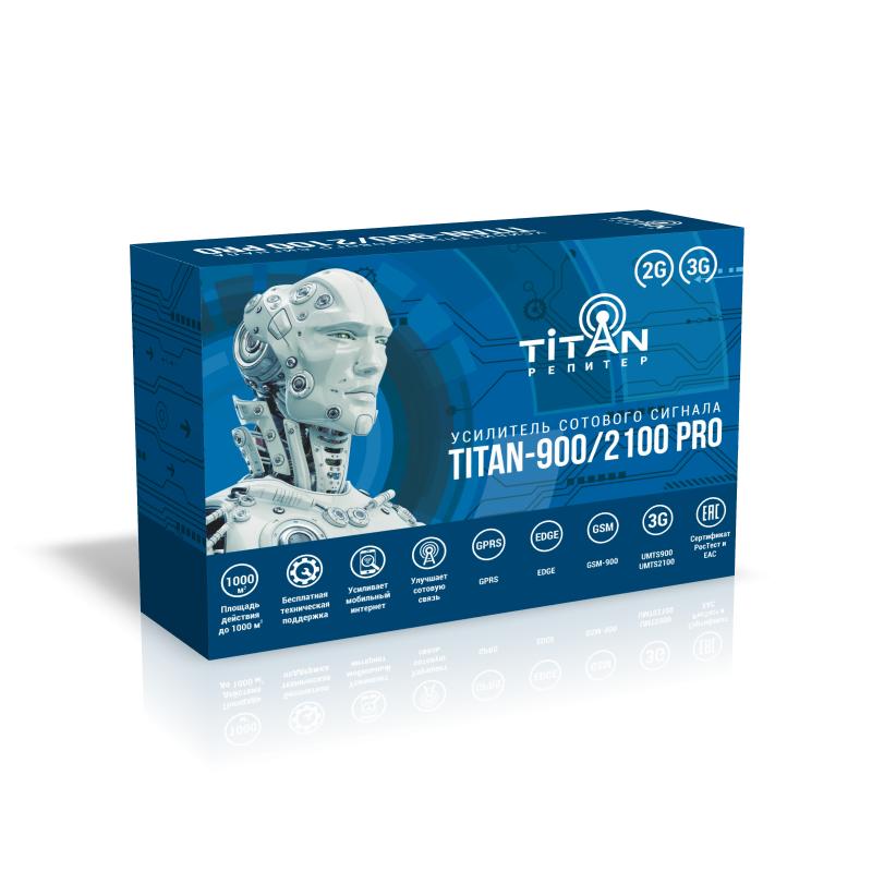 Усилитель сигнала сотовой связи (репитер) Titan-900/2100 PRO