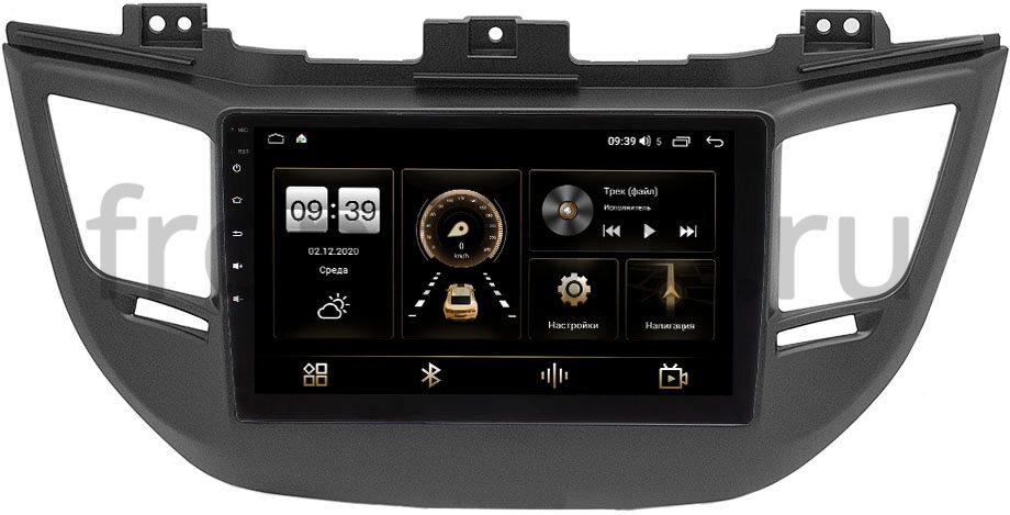 Штатная магнитола LeTrun 4166-9-064-1 для Hyundai Tucson III 2015-2018 на Android 10 (4G-SIM, 3/32, DSP, QLed) для авто с камерой (+ Камера заднего вида в подарок!)