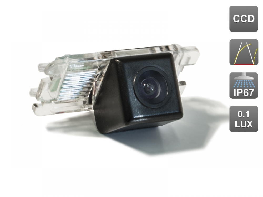 CCD штатная камера заднего вида с динамической разметкой AVIS Electronics AVS326CPR (#016) для FORD MONDEO (2007-...) / FIESTA VI FOCUS II HATCHBACK S-MAX KUGA