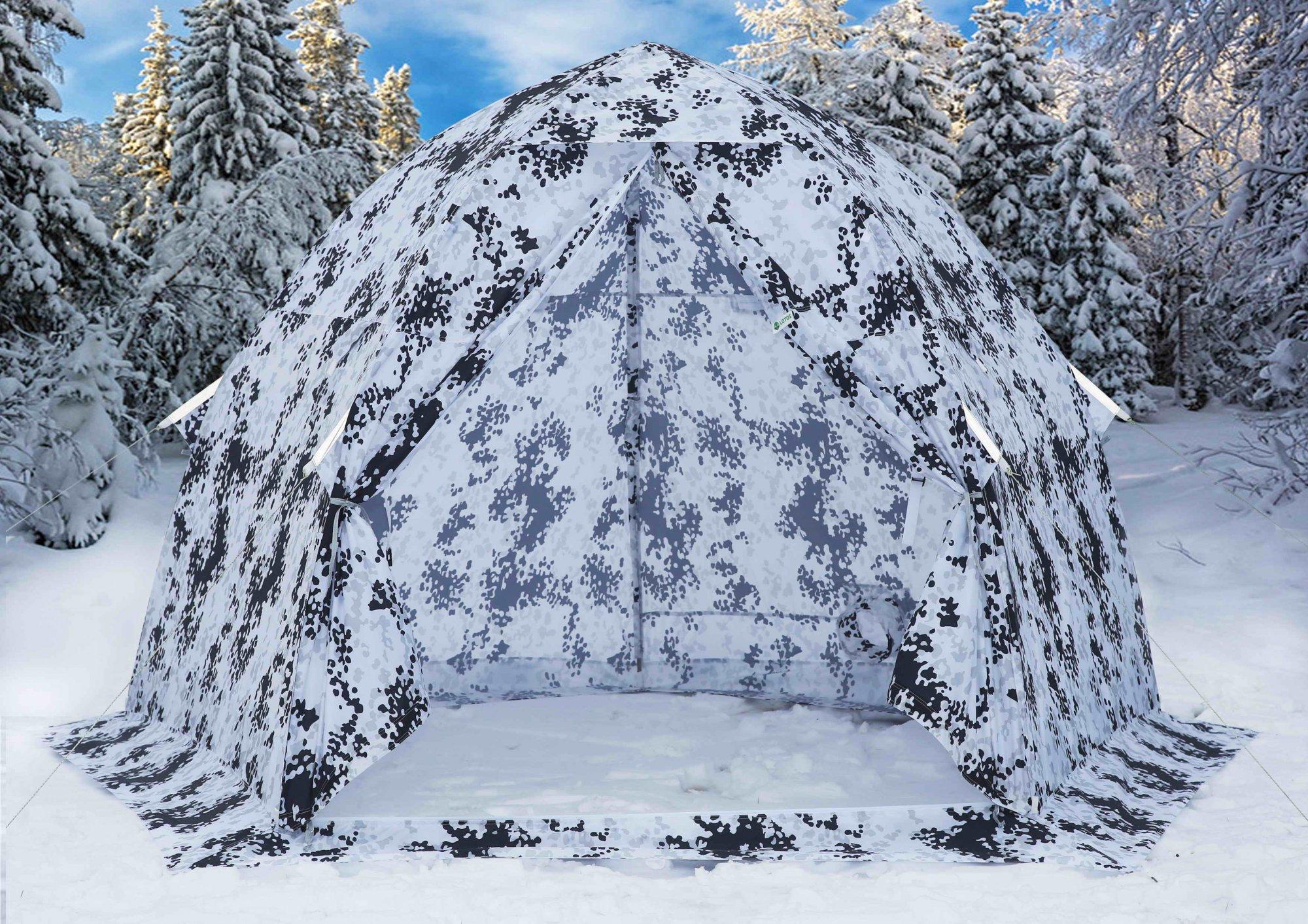 Зимняя палатка ЛОТОС 3 Камуфляж на жестком каркасе из алюминиевого сплава сапоги baffin 3pin