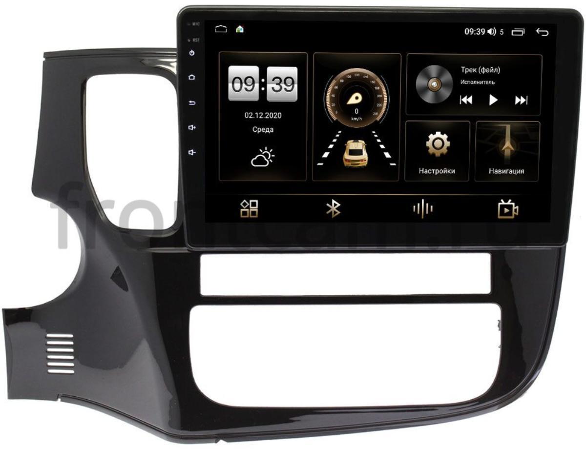 Штатная магнитола Mitsubishi Outlander III 2012-2019 LeTrun 4195-10-493 для авто с камерой на Android 10 (6/128, DSP, QLed) С оптическим выходом (+ Камера заднего вида в подарок!)