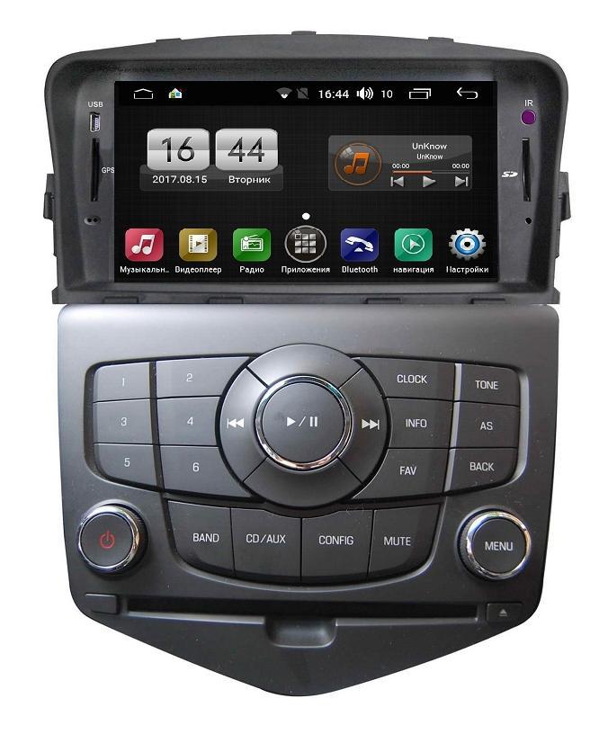 Штатная магнитола FarCar s170 для Chevrolet Cruze на Android (L045) (+ камера заднего вида)FarCar<br>FarCar s170 дляChevrolet Cruze на Android (L045) подходит на Cruze 2009-2012. Работает на Android 6.0.1 и Windows. Встроенный FM/AM тюнер с функцией RDS. Встроенный GPS приемник SiRFatlas IV. Bluetooth + встроенный Wi - Fi адаптер. HD экран 1024х600 пикселей.