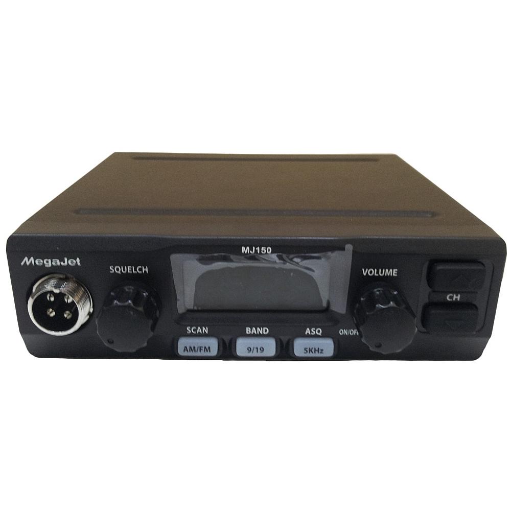 Автомобильная рация MegaJet MJ-150MegaJet<br>Водители предпочтение отдают радиостанциям с удобным и простым управлением. Автомобильная радиостанция MegaJet MJ-150 - выбор профессионалов и любителей, она проста и удобна в использовании! Рация имеет большой жидкокристаллический экран с янтарной подсветкой, расположен дисплей по центру