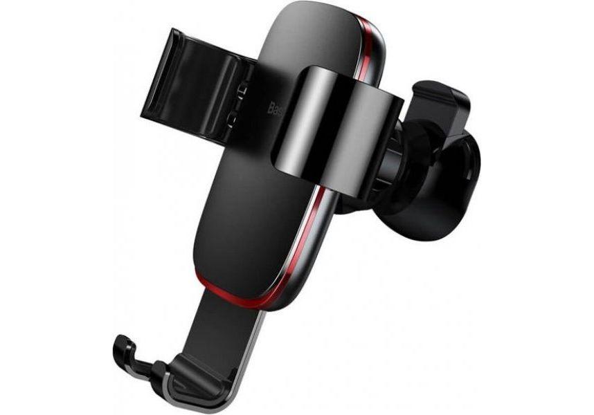 Автомобильный держатель для телефона в дефлектор Baseus Metal Age Gravity - Серый (SUYL-D0G)