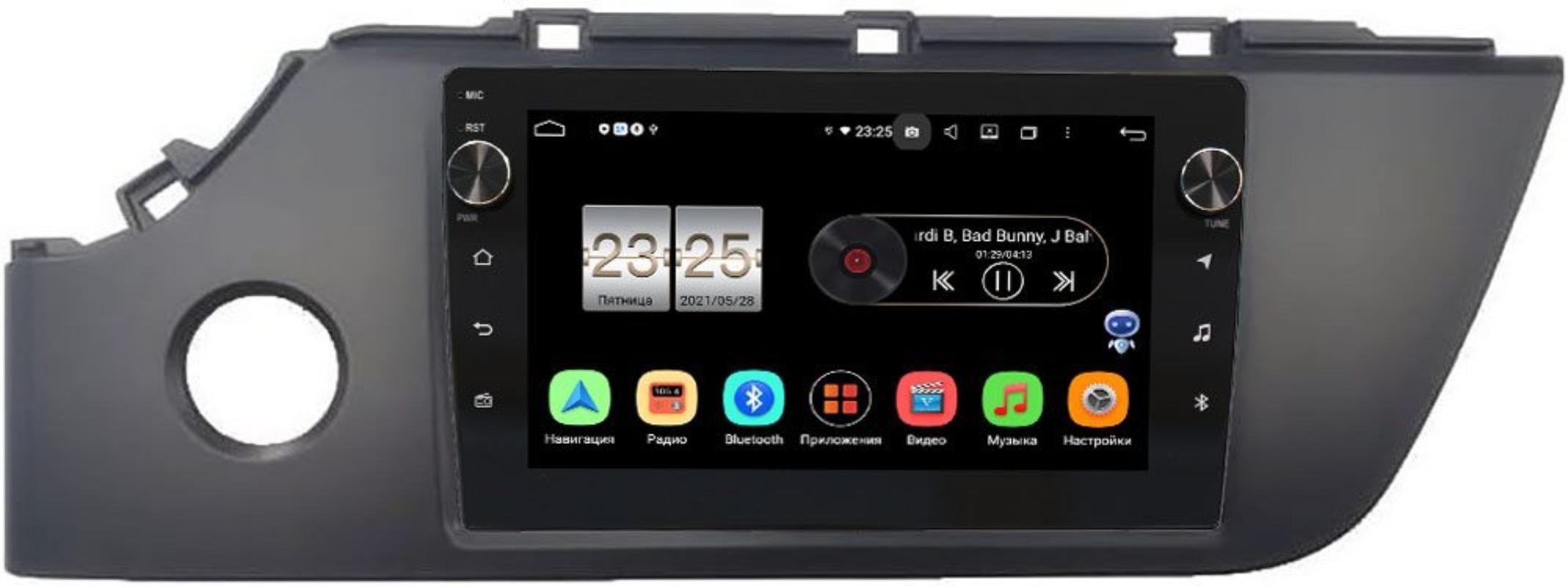 Штатная магнитола Kia Rio IV 2020-2021 LeTrun BPX609-1050 на Android 10 (4/64, DSP, IPS, с голосовым ассистентом, с крутилками) (+ Камера заднего вида в подарок!)
