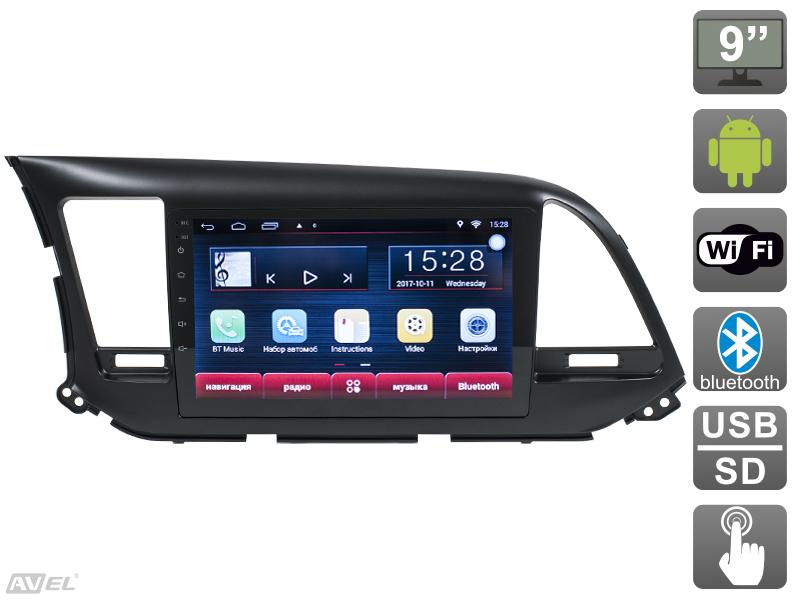 Штатная магнитола AVIS AVS090AN (#003) для Hyundai Elantra VI (AD) штатная магнитола avis avs090an для toyota camry vii xv50 2014 005