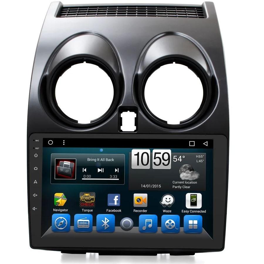 Штатная магнитола для Nissan Qashqai 2006+ CARMEDIA KR-9119-T8 на Android 7.1 (+ камера заднего вида) штатная магнитола carmedia kr 7093 t8 для hyundai ix35 2010 2015 android 7 1 2 камера заднего вида
