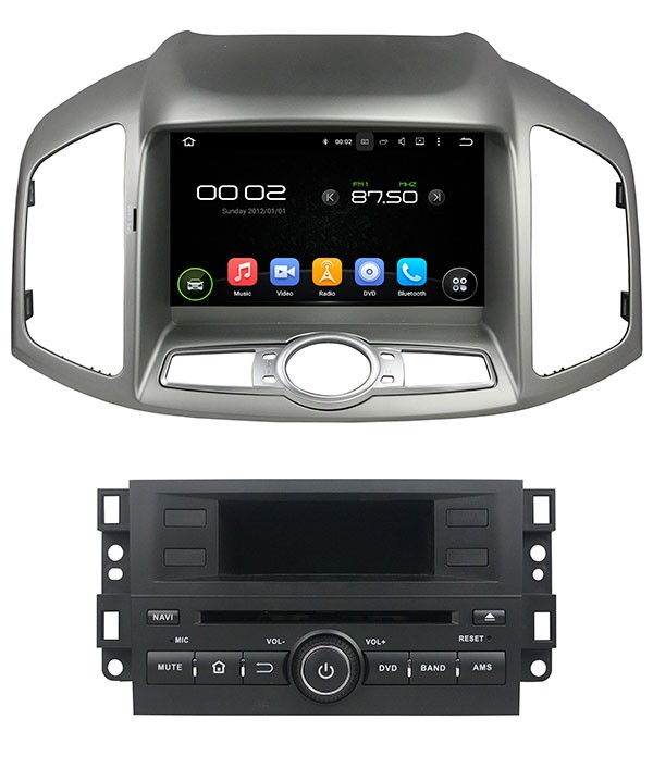 Штатная магнитола для Chevrolet Captiva (2011+) CARMEDIA KD-8406-P3-7 на Android 7.1 штатная магнитола carmedia kd 7052 p3 7 dvd ford focus ii mondeo s max galaxy tourneo transit connect серебро