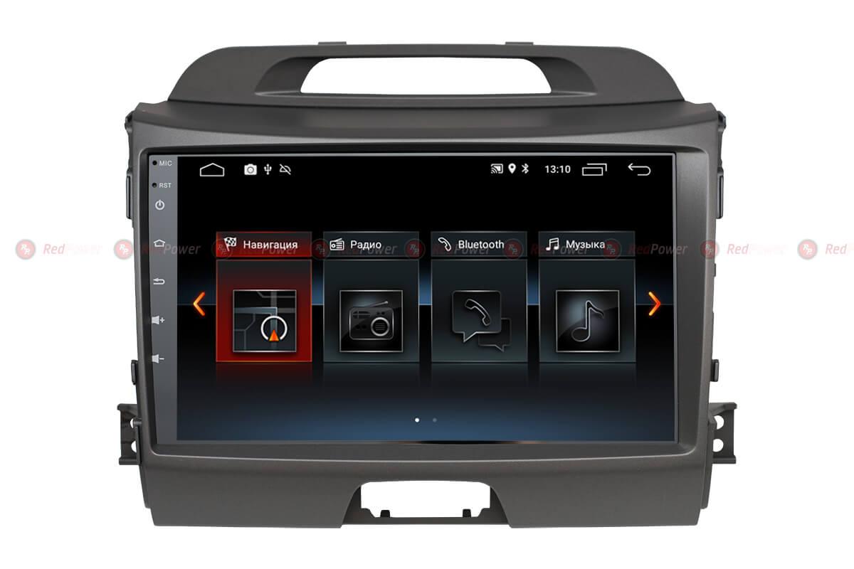 Автомагнитола Redpower 30074 IPS KIA Sportage (2010-2016) Android 8.1 (+ Камера заднего вида в подарок!)