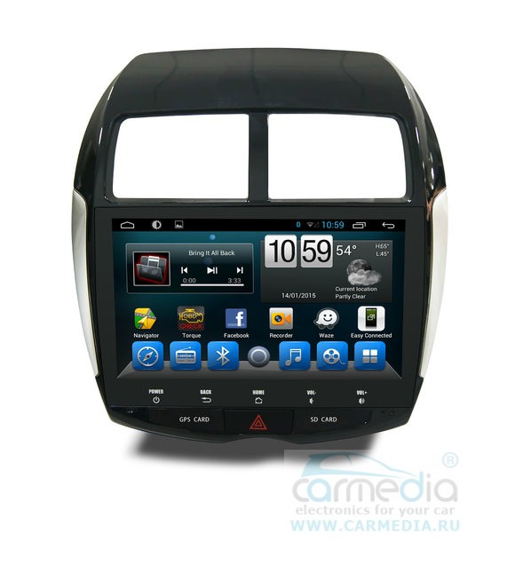 Штатная магнитола CARMEDIA UG-1046 DVD Peugeot 4008