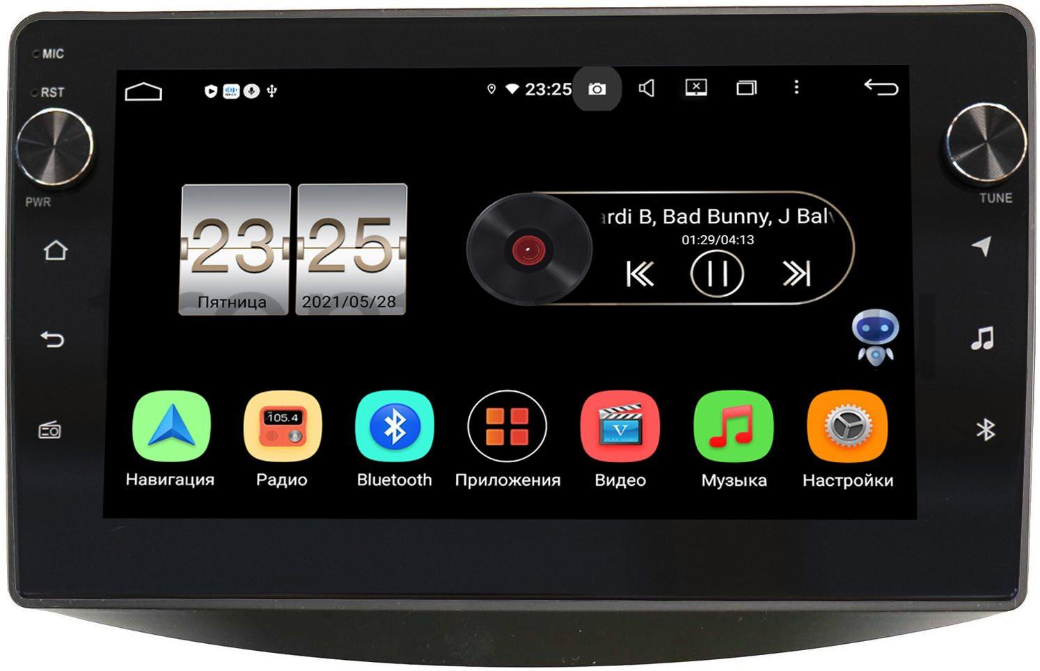 Штатная магнитола Mitsubishi Grandis 2003-2011 (для авто с климат-контролем) LeTrun BPX409-MI097N на Android 10 (4/32, DSP, IPS, с голосовым ассистентом, с крутилками) (+ Камера заднего вида в подарок!)