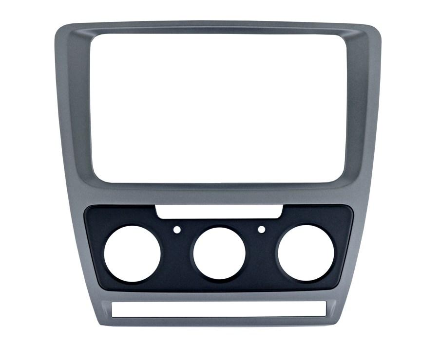 Переходная рамка Intro RSC-8676 M-SL для Skoda Octavia 04-12 Silver (Мех. Печь) цена
