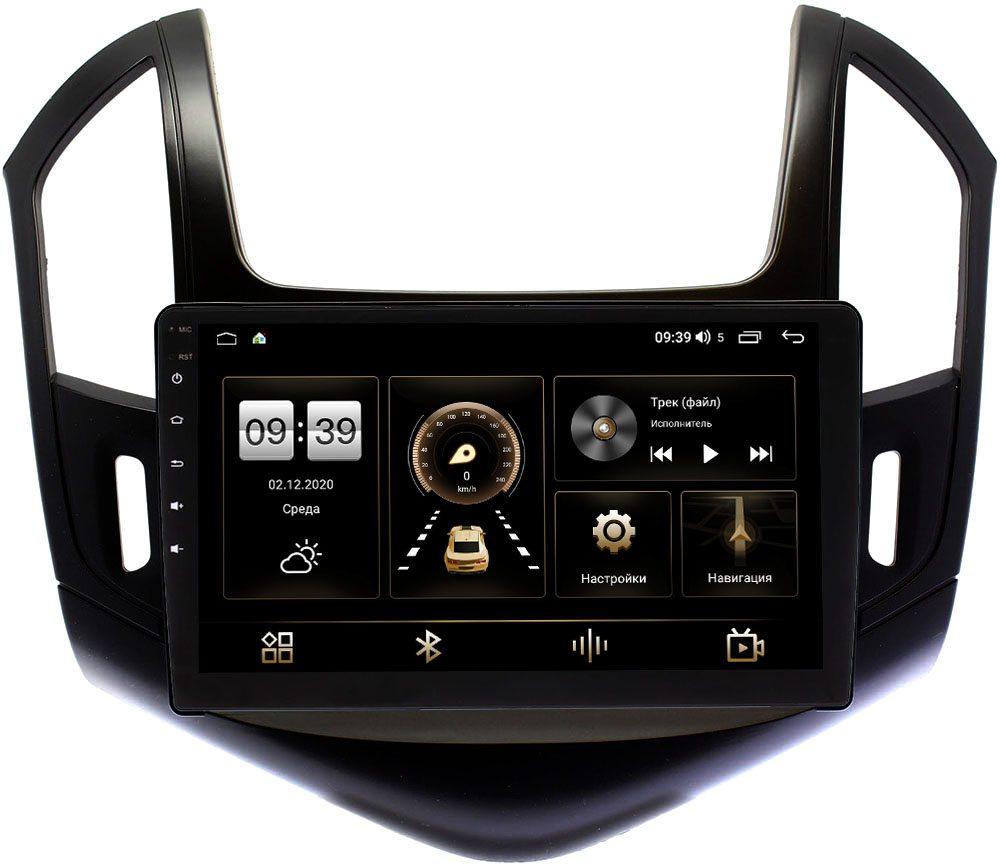 Штатная магнитола LeTrun 4196-9-425 для Chevrolet Cruze I 2012-2015 (черный глянец) на Android 10 (6/128, DSP, QLed) С оптическим выходом (+ Камера заднего вида в подарок!)