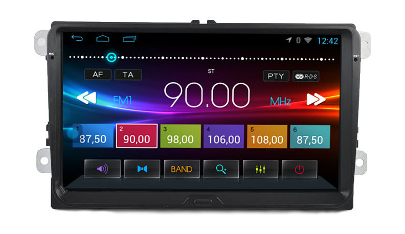 Штатная магнитола Ksize DVA-ZN8227L для Volkswagen Amarok, Caddy, Golf, Passat, Polo на Android 4.4.4