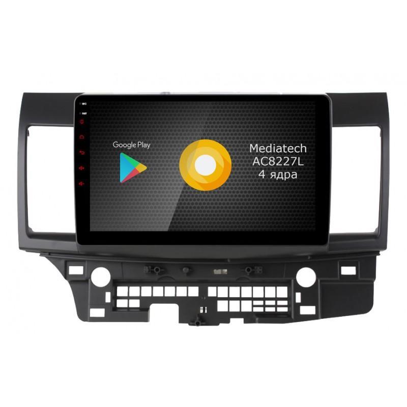 Штатная магнитола Roximo S10 RS-2612 для Mitsubishi Lancer X (Android 8.1)Roximo<br>Штатное головное устройство на базе Mediatech AC8227L Quad Core, 1.0-1.2GHz (четыре ядра) разработан именно для использования в автомобильной промышленности, система оптимизирована таким образом, что 2Гб оперативной памяти хватает для стабильной работы всех необходимых приложений, используемых в автомобиле - онлайн навигации, радаров, радио/музыки/видео.