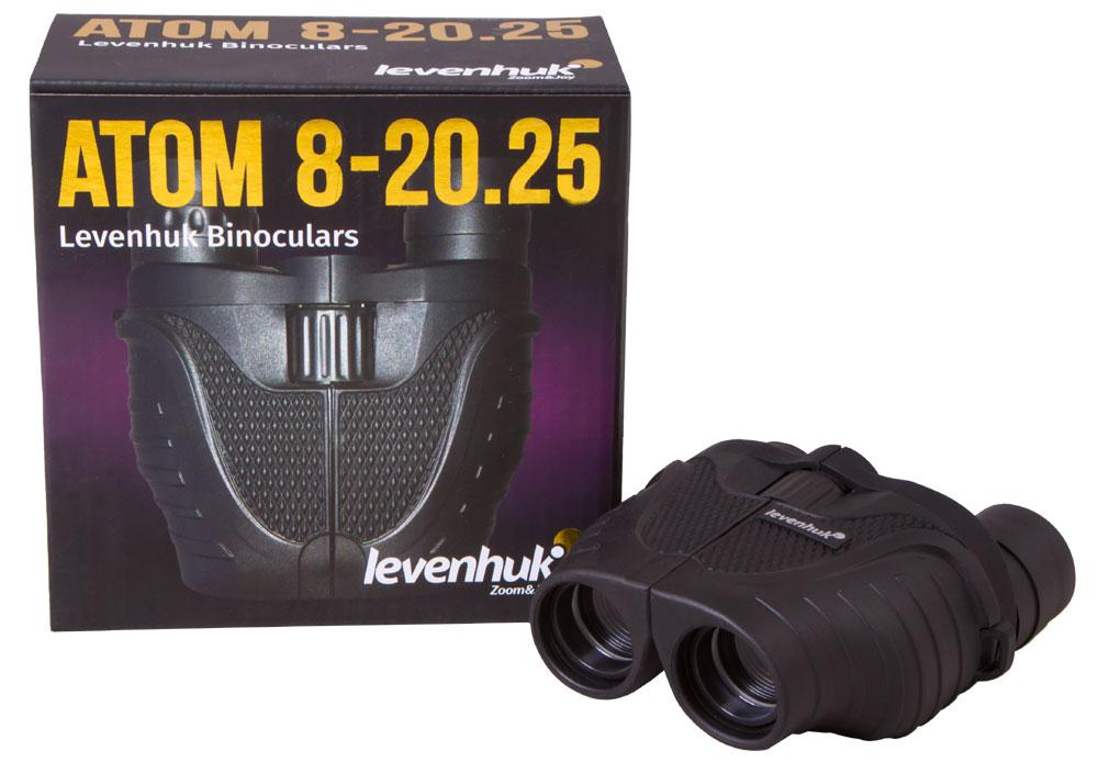 Фото - Бинокль Levenhuk Atom 8–20x25 (+ Салфетки из микрофибры в подарок) бинокль levenhuk atom 8x40