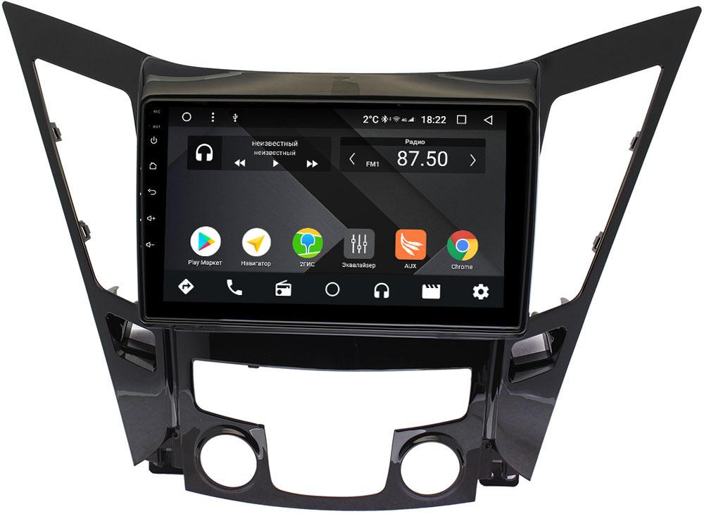 Штатная магнитола Hyundai Sonata VI (YF) 2009-2014 Wide Media CF9114-OM-4/64 на Android 9.1 (TS9, DSP, 4G SIM, 4/64GB) (+ Камера заднего вида в подарок!)