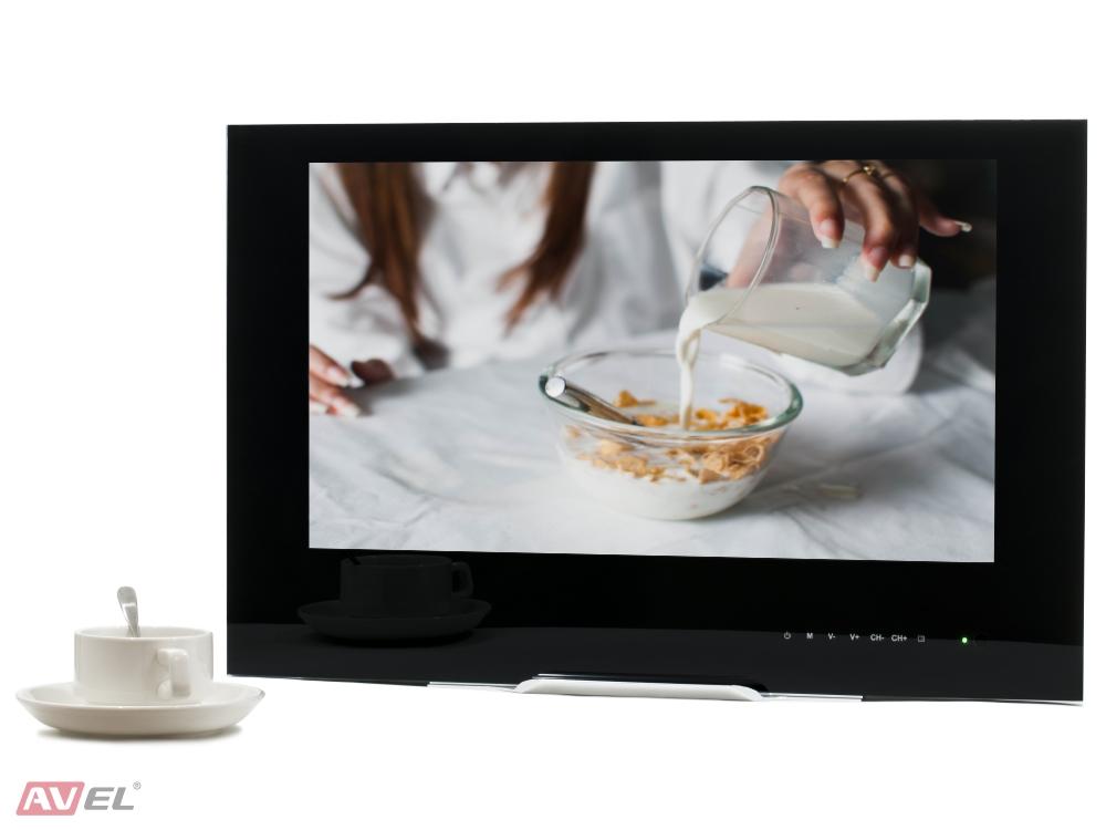 Встраиваемый телевизор для кухни AVS220W (черная рамка) телевизор либертон