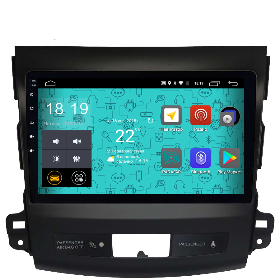 Штатная магнитола Parafar 4G/LTE для Mitsubishi Outlander XL 2006-2012 на Android 7.1.1 (PF056) unlocked netger 4g 150mbps sierra wireless router aircard 770s 4g lte mobile wifi hotspot dongle 4g pocket wifi