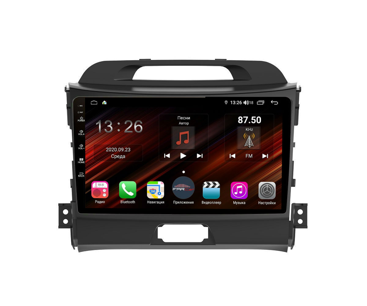 Штатная магнитола FarCar s400 Super HD для KIA Sportage на Android (XH537R) (+ Камера заднего вида в подарок!)