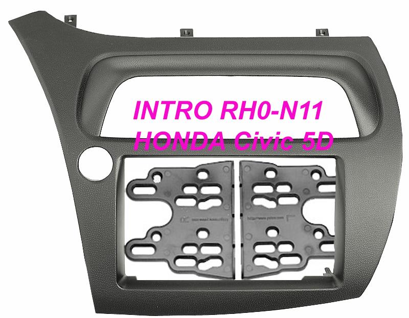Переходная рамка Intro RHO-N11 для Honda Civic 06+ 2DIN (H/B 5D) переходная рамка intro rho n03 для honda crv до 06 hrv 2din