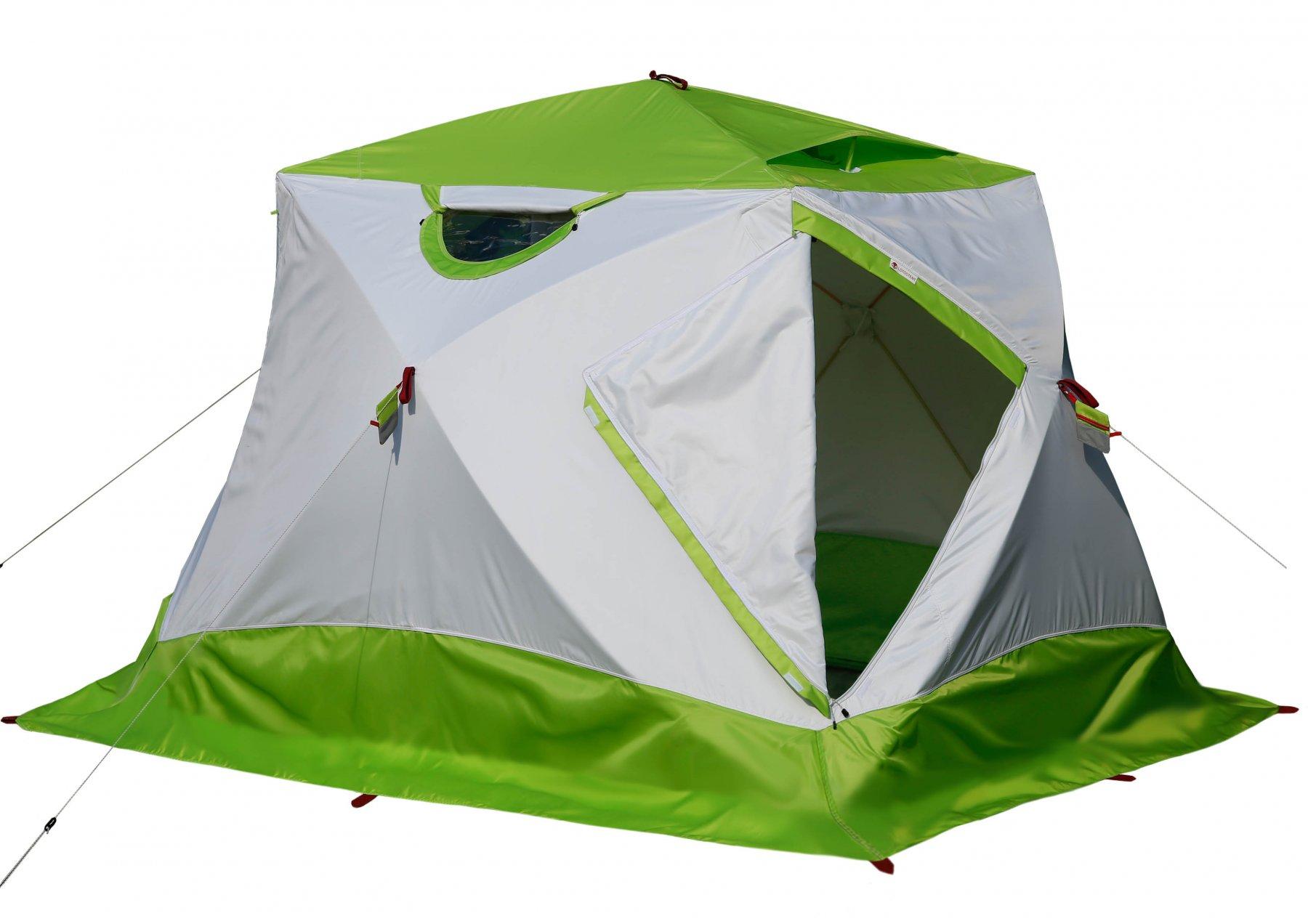 Зимняя палатка Лотос Куб 4 Классик Термо (+ Дарим комплект ввертышей для палаки.) палатка talberg hunter 4 pro