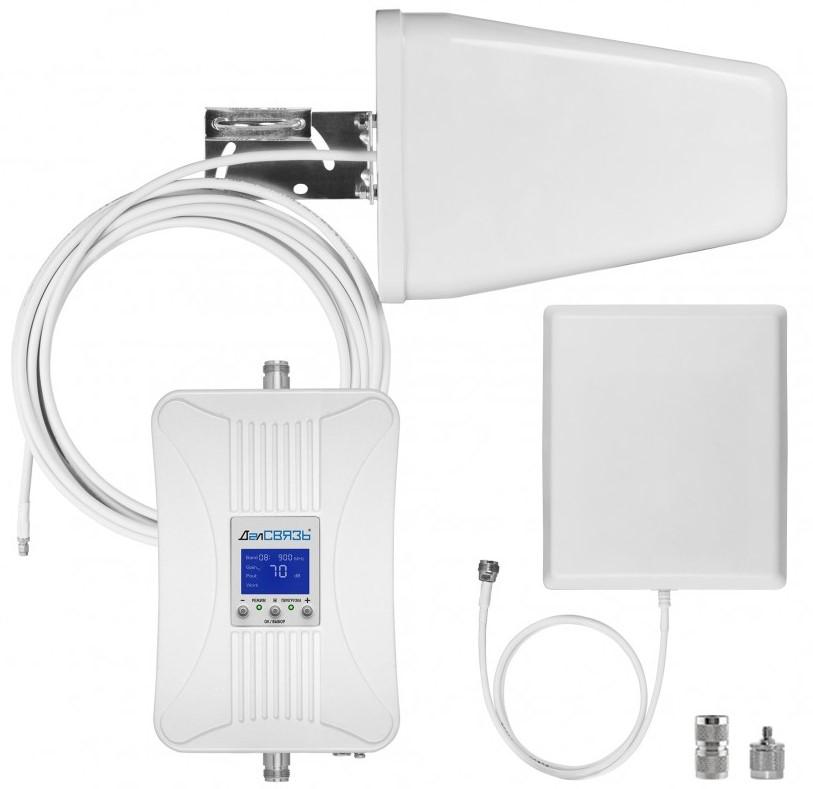 Готовый комплект усиления сотовой связи Далсвязь DS-900/1800-17С2 (+ Кронштейн в подарок!)