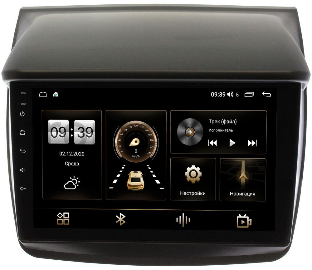 Штатная магнитола LeTrun 3792-9057 для Mitsubishi Pajero Sport II 2008-2014, L200 IV 2006-2015 на Android 10 (4/64, DSP, QLed) С оптическим выходом для авто без Navi (+ Камера заднего вида в подарок!)