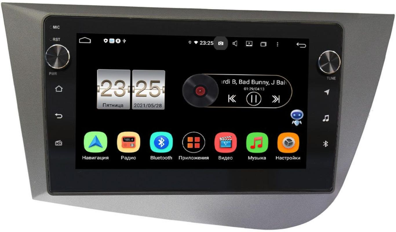 Штатная магнитола LeTrun BPX409-9248 для Seat Leon II 2005-2012 на Android 10 (4/32, DSP, IPS, с голосовым ассистентом, с крутилками) (+ Камера заднего вида в подарок!)