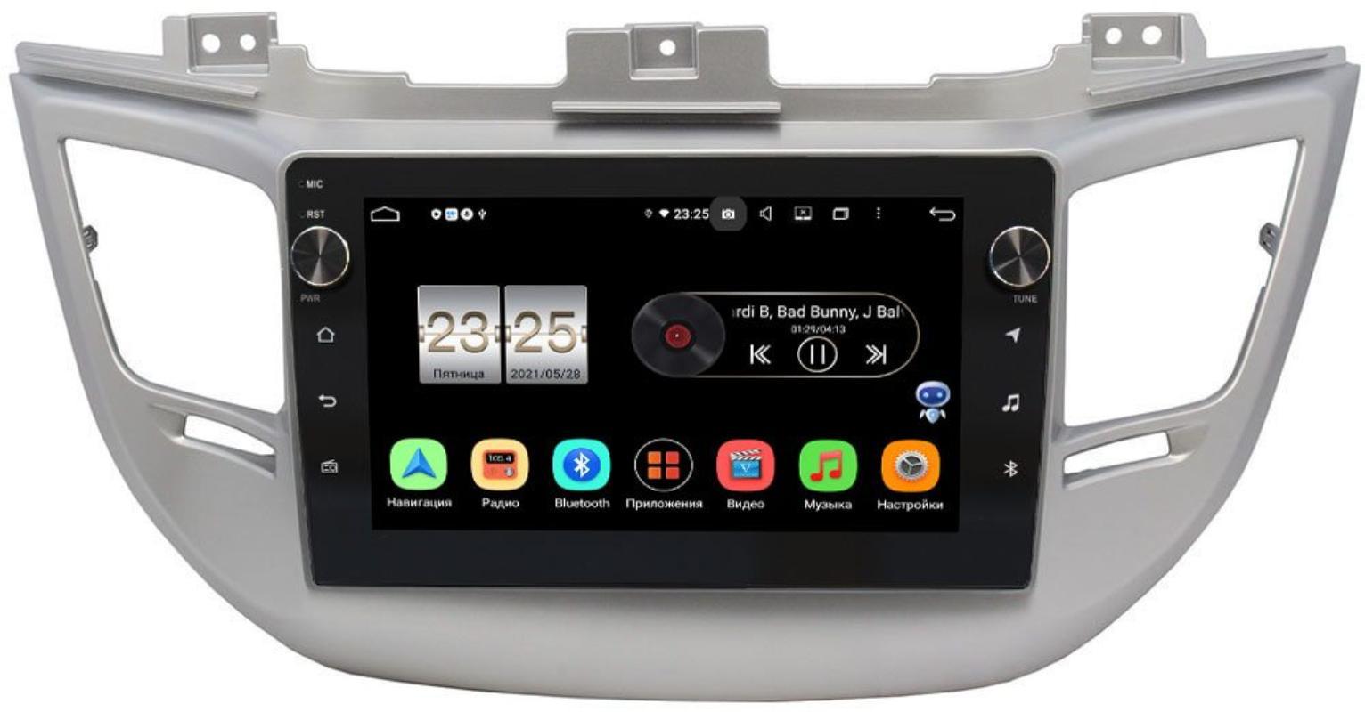 Штатная магнитола LeTrun BPX609-9041 для Hyundai Tucson III 2015-2018 на Android 10 (4/64, DSP, IPS, с голосовым ассистентом, с крутилками) для авто без камеры (+ Камера заднего вида в подарок!)