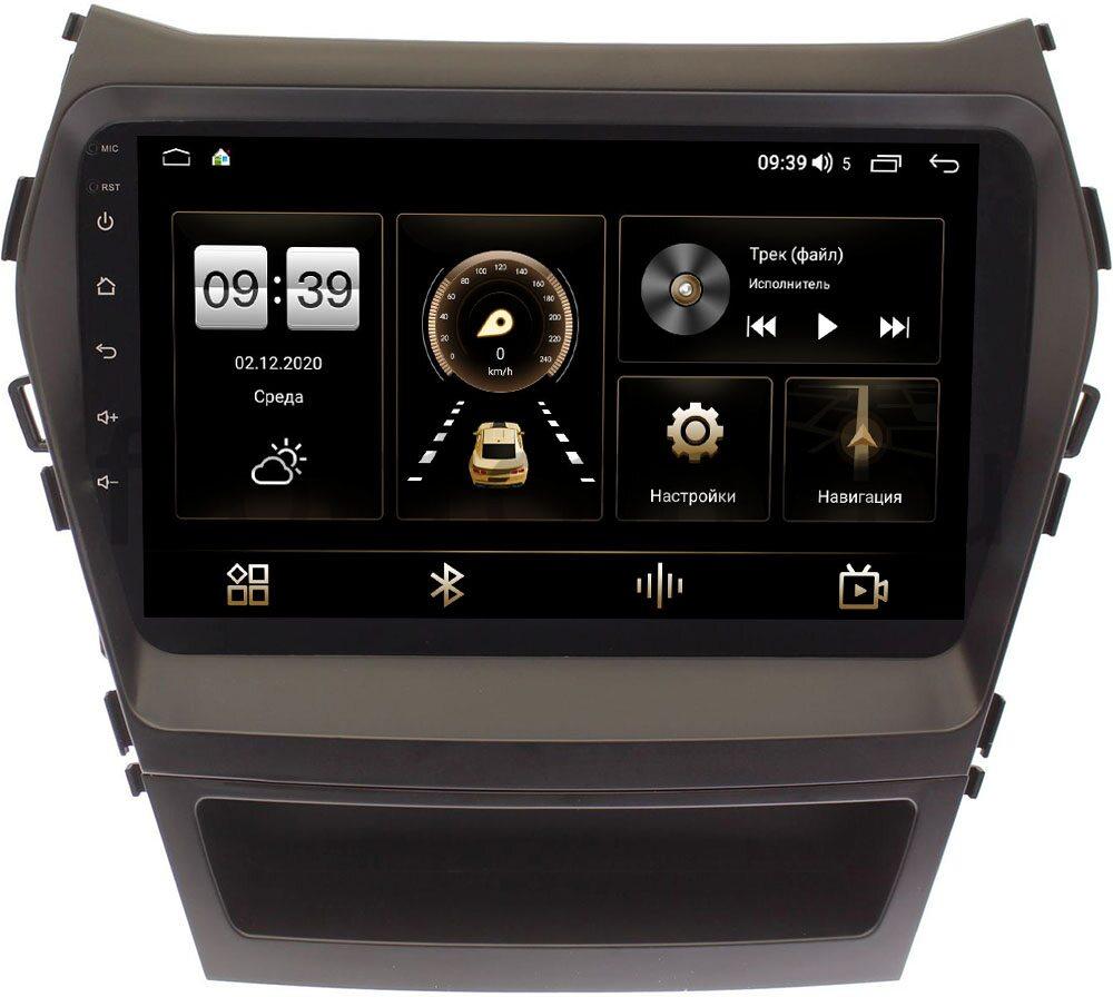 Штатная магнитола Hyundai Santa Fe III 2012-2018 LeTrun 3792-9022 для авто без Navi на Android 10 (4/64, DSP, QLed) С оптическим выходом (+ Камера заднего вида в подарок!)
