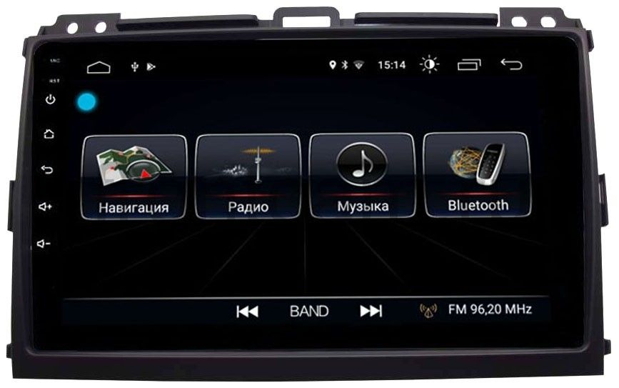 Штатная магнитола LeTrun 2443 для Toyota Land Cruiser Prado 120 2002-2009 на Android 8.0.1 MTK-L 1Gb (+ Камера заднего вида в подарок!)