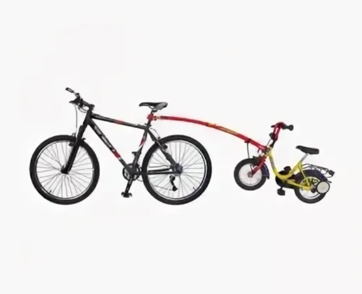 Прицепное устройство детского велосипеда к взрослому TrailGator (красное)