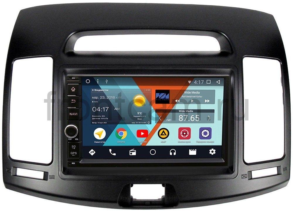 Штатная магнитола Wide Media WM-VS7A706NB-1/16-RP-HDHD-30 для Hyundai Elantra IV (HD) 2006-2011 Android 7.1.2 (+ Камера заднего вида в подарок!)