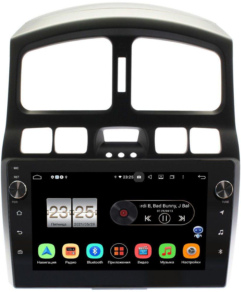 Штатная магнитола Hyundai Santa Fe 2000-2012 LeTrun BPX609-HY223N на Android 10 (4/64, DSP, IPS, с голосовым ассистентом, с крутилками) (+ Камера заднего вида в подарок!)