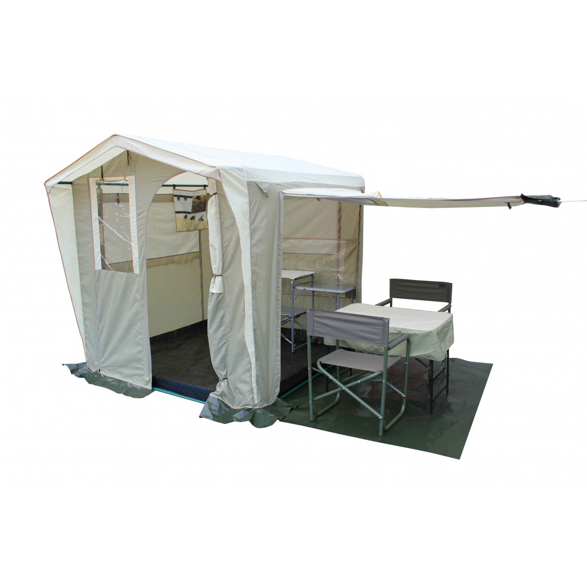 Палатка-Кухня Митек Люкс 2,0х2,0 хаки-бежевый