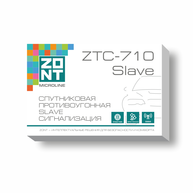Автомобильная GSM сигнализация ZONT ZTC-710 Slave (2CAN-LIN, GSM/GPS/ГЛОНАСС) sapsan gsm pro 5t универсал gsm сигнализация